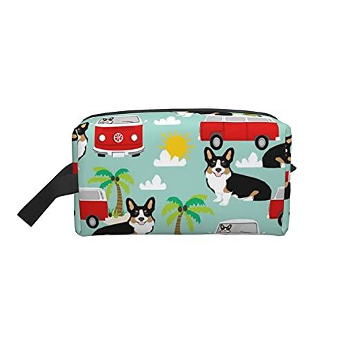 Bolsa de maquillaje Corgi Tricolor Beach Dog Breed Bolsa de