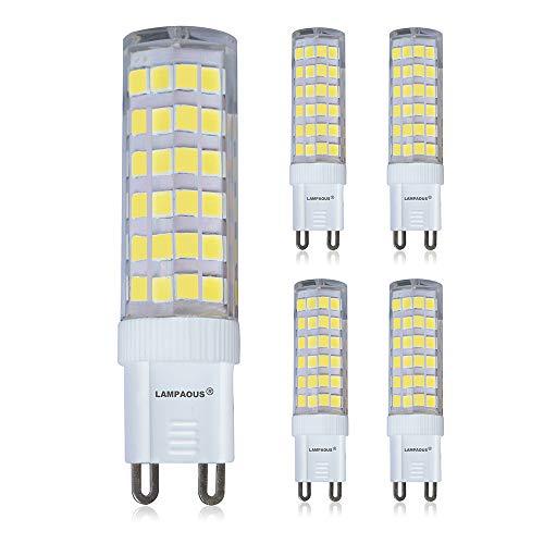 LED-Lampe, 7 W, G9, 6000 K, kaltweiß, entspricht 60 W, Abstrahlwinkel: 360 Grad, nicht dimmbar, Metall Kunststoff, 6000k, G9, 7.00W 230.00V