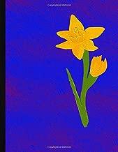 daffodil acrylic painting