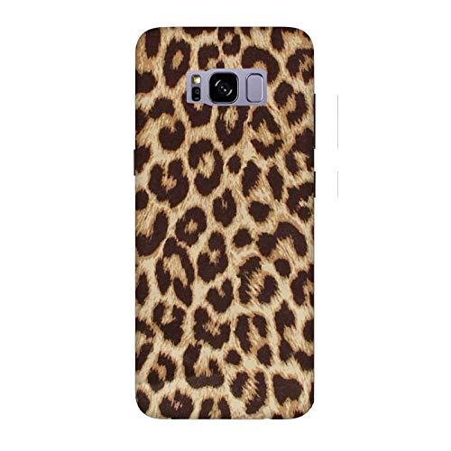 Generico Cover Samsung Galaxy S8 Leopardato Maculato Marrone Maculato/Custodia Stampa Anche sui Lati/Case Anticaduta Antiscivolo AntiGraffio Antiurto Protettiva Rigida