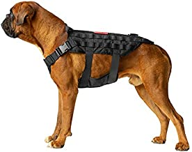 OneTigris POWER ROCKET Zero Sliding K9 Harness with MOLLE and Grab Handles Water-resistant Heavy Duty Tactical Dog Vest