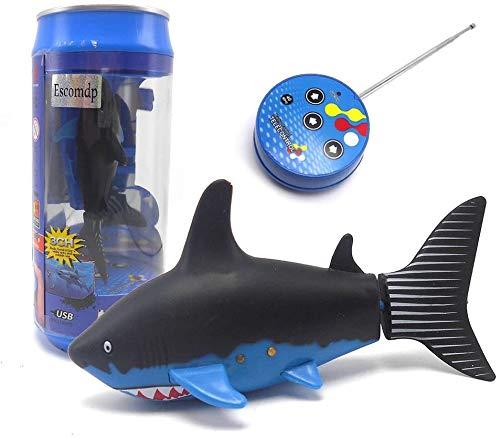 Escomdp Mini RC Fish Pez Tiburón Niños Recargable Juguete Eléctrico Control Remoto...