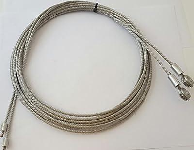 "Fleet Engineers Roll-Up Door Cables (Pair) 130"" with 5/16"" Eye"