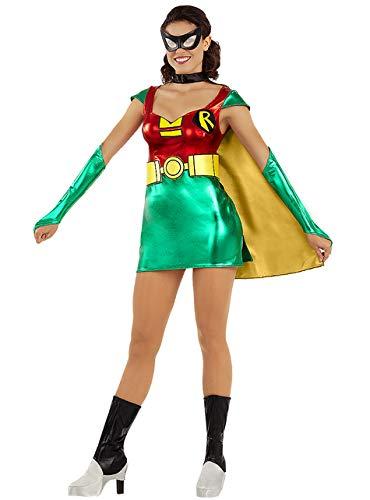 Funidelia | Disfraz de Robin Oficial para Mujer Talla M ▶ Chico Maravilla, Superhelden, DC Comics