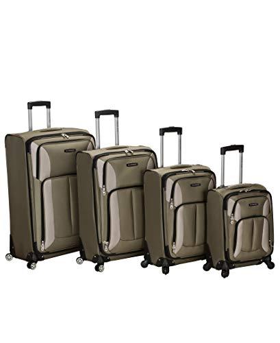 Rockland Impact Softisde Spinner Wheel Luggage Set, Olive