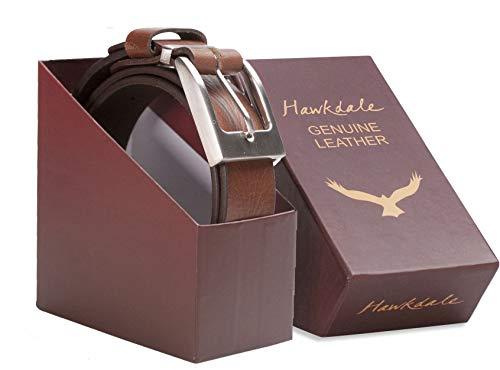 """Hawkdale Da Uomo Marrone Cintura in pelle pieno fiore taglia XL 40 a 44 Pollici di larghezza di 1.5/"""""""