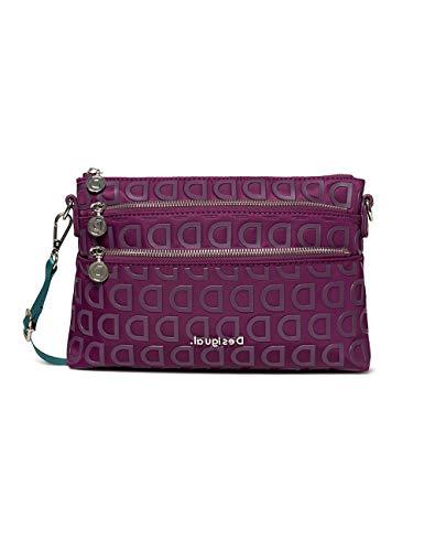 Desigual Bols_stardust Durban - Borsa a tracolla da donna, 4 x 17,5 x 27,2 cm, colore: Viola