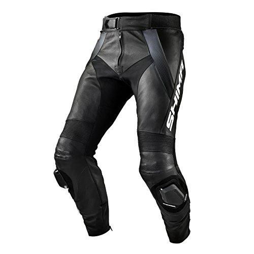 SHIMA STR TROUSERS BLACK, Lederhose Sport Herren Mit Protektoren, Motorradhose, (46-58, Schwarz), Größe 46