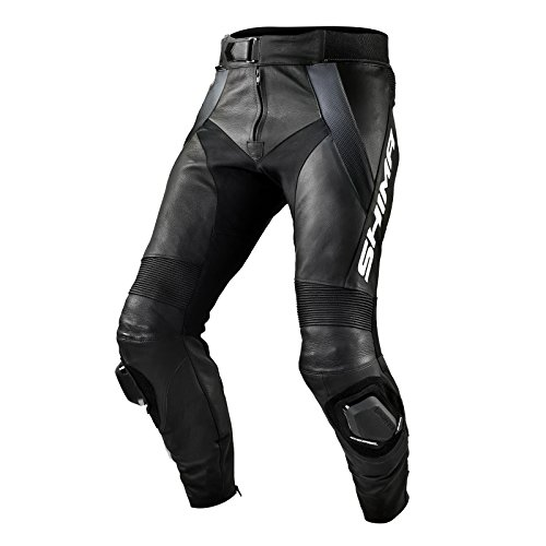 Shima STR Trousers Black - Pantalón Deportivo de Piel para Hombre con Protectores, Talla 46-58, Color Negro, Talla 58