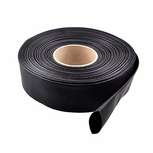 LaDicha 1M PVC Thermorétractable Tube Noir 30/40/46/50/60/70/86Mm Wide pour Batterie Lipo - 50Mm