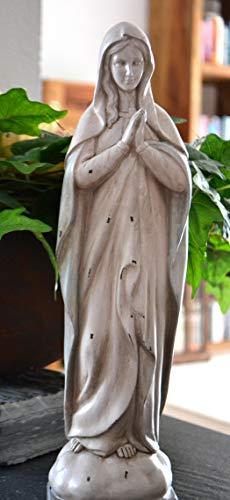 Madonna -hübsche Marienfigur betend mit weiß-hellblauem Gewand, Höhe 37 cm