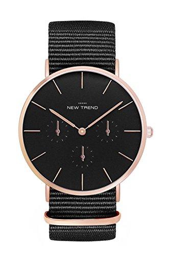 New Trend - Love for Accessories Damen Uhr analog Quarzwerk mit Kunst-Leder-Armband J0-7J0P-MMF9