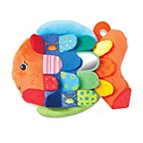 Melissa & Doug Flip Fish Baby Toy (Developmental Toy, Squeaker Tail, Shatterproof Mirror, Washable Fabrics,...