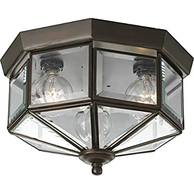 Progress Lighting P5788-Octagonal Close-To-Ceiling Fixture with Clear Bound Beveled Glass