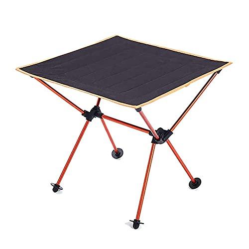MQJ Klapptisch, Roll Camping-Tisch Tragbares Picknick-Rucksack-Klapptisch Outdoor Fishing Lightweight Gartenschalter Für Strandreisen,Orange