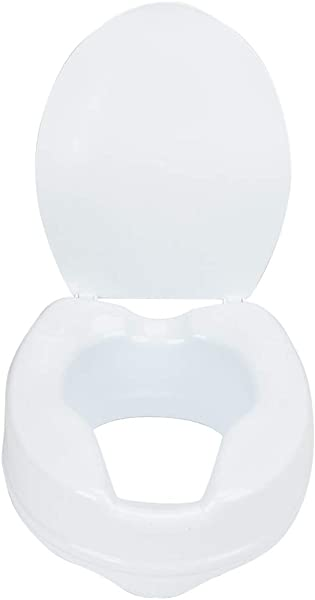 Daindy 4 Portable Removable Raised Toilet Seat Elderly Patients Assists Detachable Elevated Toilet Seat Riser