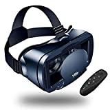 LEKAMXING VR Headset With Remote Controller Virtual Reality Headset for iPhone & Android 5.0-7.0inches Play Your Best Mobile Games & 360 Movies With Soft All Android Smartphone & Comfortable NEWEST