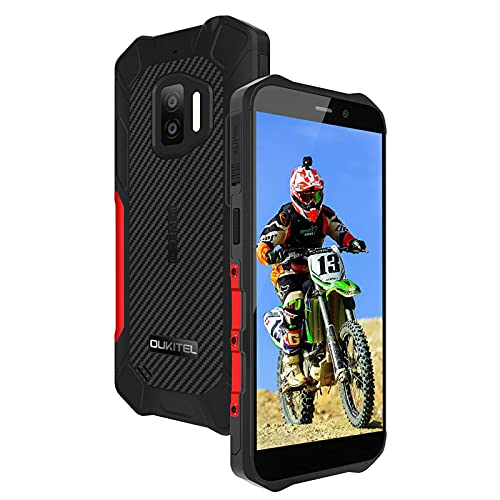 Rugged Smartphone OUKITEL WP12 (2021), Android 11 IP68 impermeabile Dual SIM Telefoni, Display 5,5 pollici Telefono, 13MP Dual camera 4000mAh Cellulari NFC, Rosso