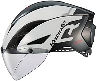 OGK KABUTO(オージーケーカブト) ヘルメット AERO-R1 ホワイトダークグレー S/M (頭囲:55cm-58cm)