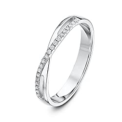 Solid 9ct white gold (375 hallmark) ring, handmade using pure fine gold Set with 20 x 0.5p diamonds Highly polished finish ensures a mirror-like shine Comfort fit - otherwise known as 'court shape' where the ring is rounded on the inside giving it a ...