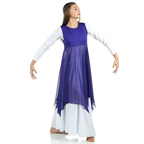 Danzcue Womens Worship Praise Dance Pullover Vest, Deep Purple, 2XL-3XL