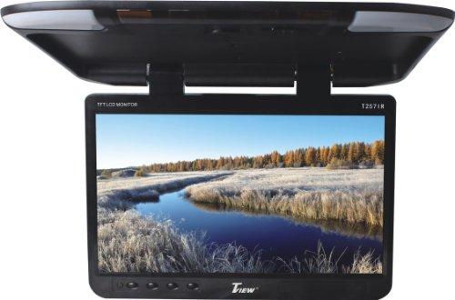 Tview T257IR-BK Wide Screen Flip Down Monitor - Black