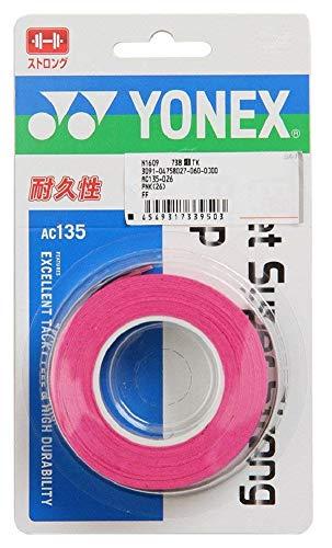 ヨネックス(YONEX) テニス バドミントン グリップテープ ウェットスーパーストロンググリップ (3本入り) AC135 ピンク