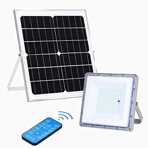 XYUE 2000LM ソーラーライト 屋内外 フラッドライト、LED 投光器リモコン付き、リモコン距離15M、スマートオン/オフ IP65防水 6000K、納屋、ガレージ、庭園、プール、体育館で使用される118LEDの非常に明るい屋外スポットライトは、約