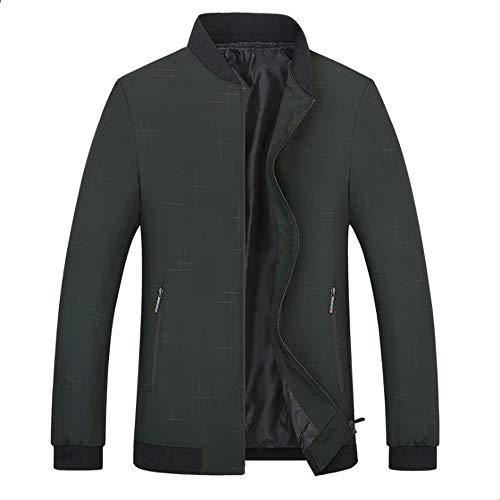HXYF Männer leichte Jacke Overalls Outdoor-Freizeit-Volltonfarbe Polyester Jacke Business Casual Kleidung dünne beiläufige Jacke Softshell-Jacke warme Familie Reise Kleidung,A88darkgreen,190