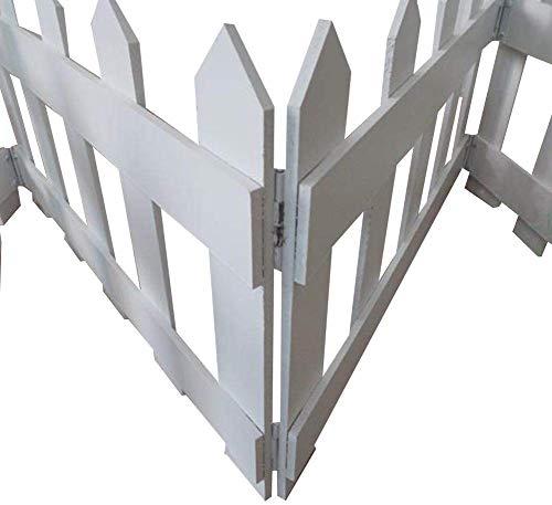 GJNVBDZSF Barrière résistante à la Corrosion de Bord de barrière de Piscine de Fleur Facile à Installer barrière en Bois Solide d'absorption d'eau