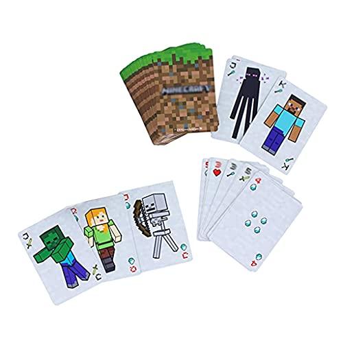 Minecraft Playing Cards Baraja Estándar de (un Total de 55 Cartas) Caja de Embalaje de Papel Fans Y Amigos 9x6x2cm (3,5x2,4x0,8 Pulgadas)