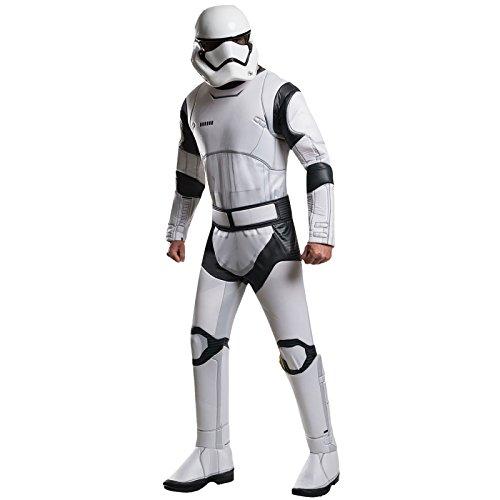 Star Wars 7 Kostüm Stormtrooper Herren Deluxe 3-TLG Overall Gürtel Maske weiß - XL