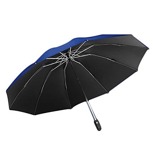 WHDXYM winddicht, inklapbaar, automatische paraplu, regenscherm voor dames, windproof regenjas voor heren, regenzon roze
