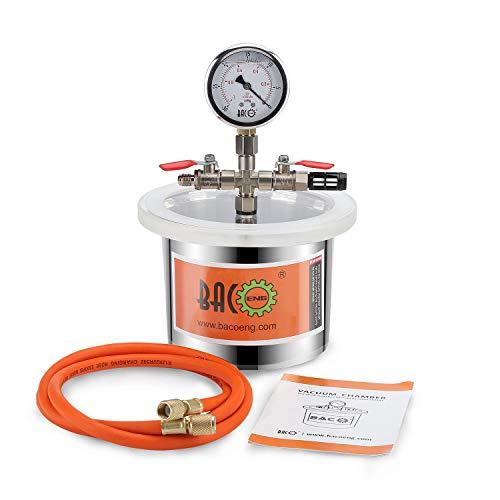 BACOENG 2 L Camera del vuoto in acciaio inox degassamento urethanes silicone epoxies