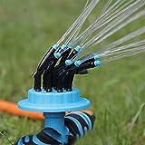 Dantazz Gartensprinkler Rasen Sprenger 360 Grad Automatische Sprinkler Sprühdüse mit 12 biegsamen...