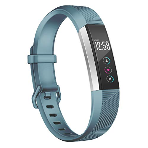 Wekin Replacement Bands Compatible with Fitbit Alta and Alta HR, Breathable Sport Silicone Wristbands Bracelet Strap with Secure Metal Buckle for Woman Men Small Large