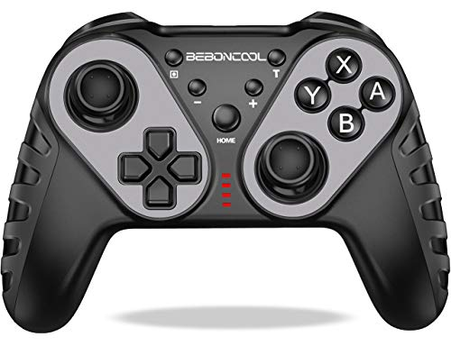 BEBONCOOL Nintendo Switch Controller, Switch Controller mit Einstellbarer Turbofunktion und Dual Motors Vibration, Wireless Switch Pro Controller Zubehörsätze Kompatibel mit Nintendo Switch/Lite