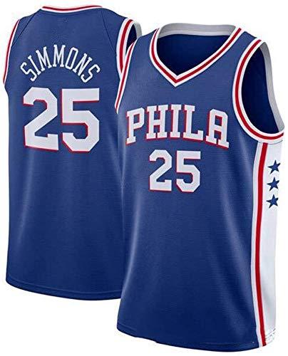 WXR Männer-T-Shirt Mens Sport Vest Jerseys 25# Basketball Uniform Anzug Tops Basketball-T-Shirt for Basketball-Fans Unterhemd Vest Anzug (Color : C, Size : S)