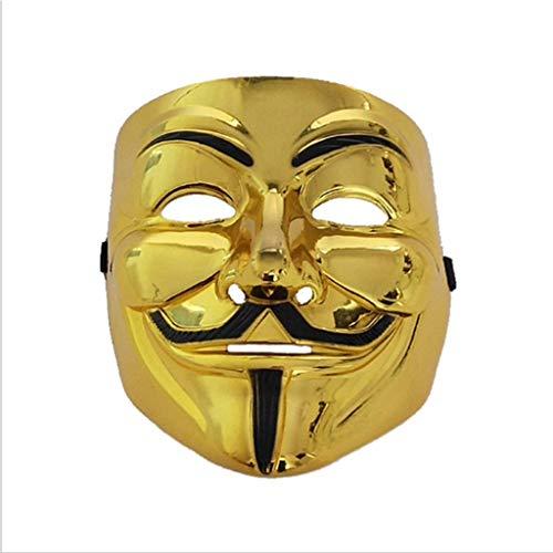 Baipin Máscara Vendetta Oro, Careta de V para Vendetta Má