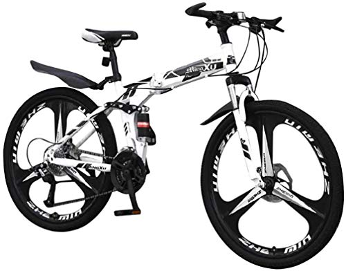 HCMNME Durable Bicycle, Mountain Bikes,Cycling 21 Speed 26 Inch Bike Double Disc Brake Bicycles MTB Bicycle Mountainbike Adult Student Outdoor Sport Bike Alloy Frame with Disc Brakes
