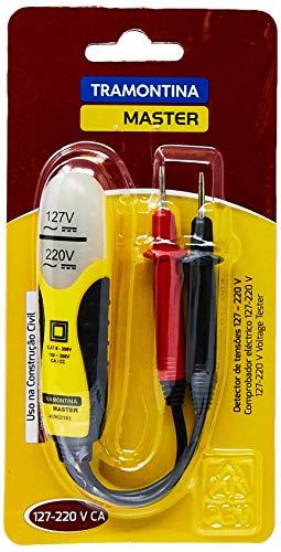 Tramontina 41902101, Detector de Tensões Capacidade 127 220V, Corpo e Plugues Injetados, Amarelo