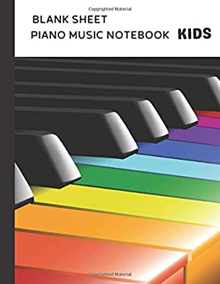 Blank Sheet Piano Music Notebook Kids: 100 Pages of Wide Staff Paper (8.5x11), Perfect for Beginner Learning