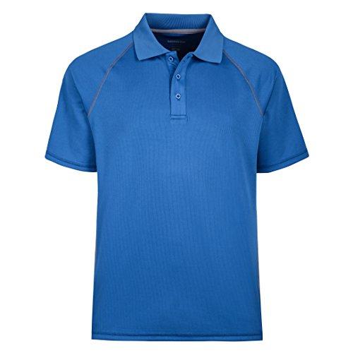 MOHEEN Herren Poloshirt/Funktionsshirt in Übergrößen S bis 5XL - für Sport Freizeit und Arbeit (Blau, XL)