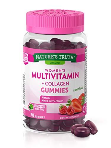 Nature's Truth Women's Multi-Vitamin Collagen 70 Vegan Gummies, 70 Count