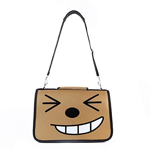 Mzdpp Brown Haustier Tasche Smirk Gesicht Zwinger Katzenstreu Netto Leicht Zu Transportieren 50X40X15 cm