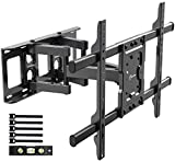 EVERVIEW Full motion TV Wall Mount Bracket fits for most 37-70 inch LED,LCD,OLED Flat Curved TVs,Dual Articulating Arms Swivels Tilts Rotation, Max VESA 600X400mm, Holds up to 132lbs