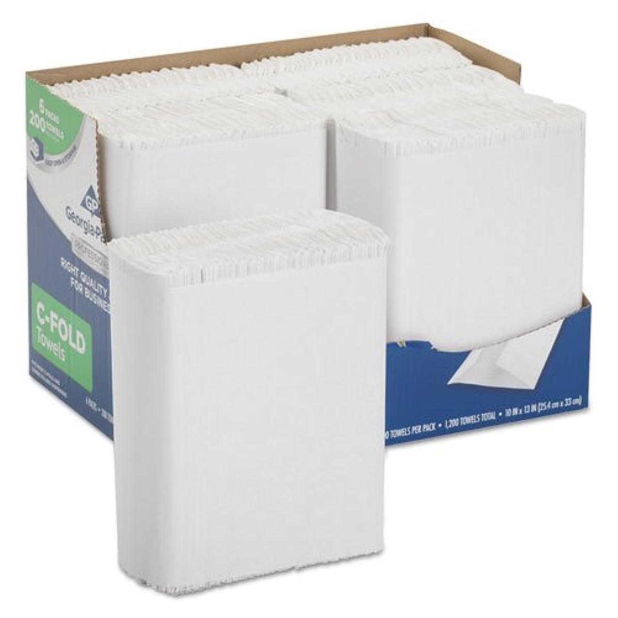 休眠懇願する不条理Georgia Pacific 2112014プロフェッショナルシリーズプレミアム紙タオル、c-fold、10?x 13、200?/ BX、6?BX / CT