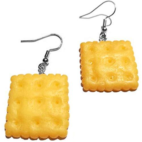 Zonfer 1pair Keks Ohrringe, Quadrat Plätzchen-ohrring Für Frauen-mädchen