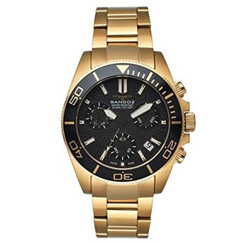 Reloj Sandoz Crono Diver Dorado Hombre 81447-97