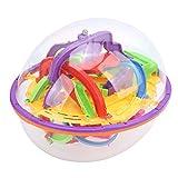 Crisist Juguete de la Bola del Laberinto 3D, Juego de Rompecabezas Duradero práctico Divertido para el Juguete Educativo para el Regalo de cumpleaños